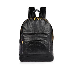 Black Mi-Pac ostrich backpack
