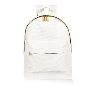 White Mi-Pac perforated backpack