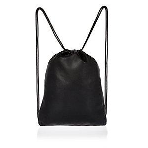 Black Mipac drawstring kit bag