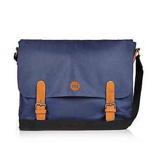 Navy Mi-Pac satchel bag