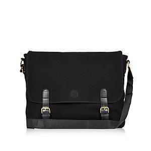 Black Mi-Pac faux suede satchel
