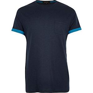 Dark blue short sleeve t-shirt