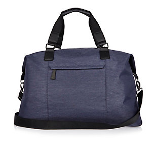 Blue holdall bag