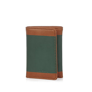 Light brown color block wallet