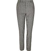 Pantalon de costume moucheté gris skinny