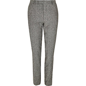 Grey neppy skinny suit pants