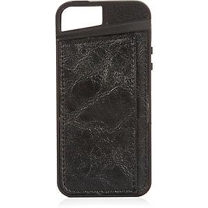 Black iPhone 5 cardholder phone case