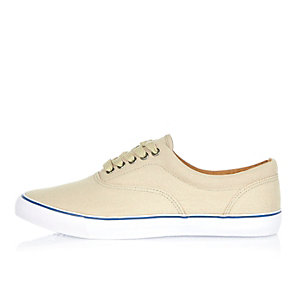 Ecru canvas plimsolls