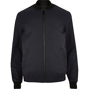 Navy plain casual comber jacket