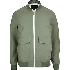Green bomber jacket