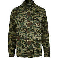 Veste camouflage verte style travailleur