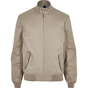 Stone funnel neck harrington jacket