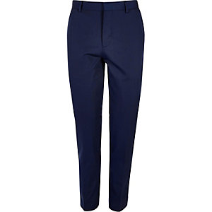 Blue skinny suit pants