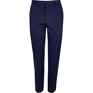 Blue skinny suit pants