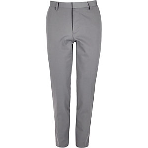 Grey skinny suit trousers