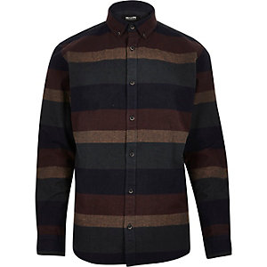 Navy Only & Sons stripe shirt