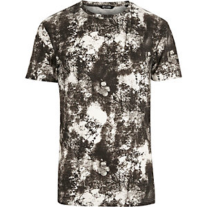 Grey Only & Sons printed t-shirt