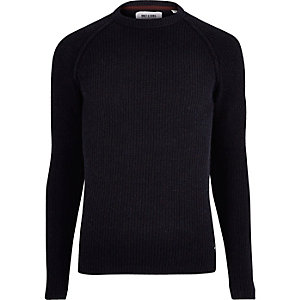 Navy Only & Sons knitted sweater
