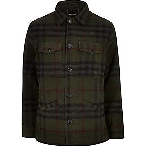 Dark green check Only & Sons jacket