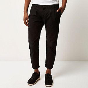 Black slim chino pants