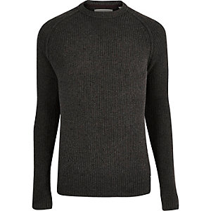 Grey Only & Sons knitted jumper
