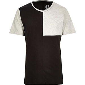 Black Only & Sons block panel t-shirt
