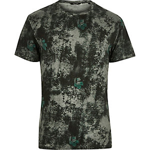 Grey Only & Sons print t-shirt