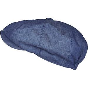 Navy baker boy flat cap