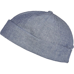 Light blue docker cap