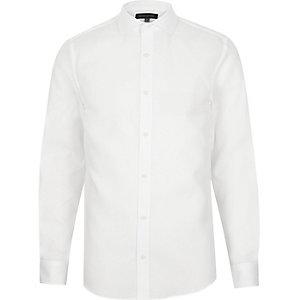 White semi cutaway shirt