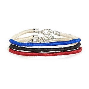 Mixed twisted cord bracelets pack