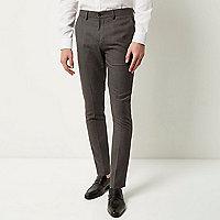Dark grey textured pants