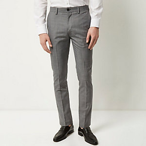 Medium grey textured pants