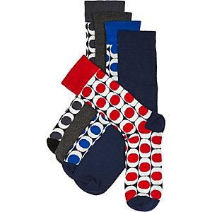 Black retro socks pack