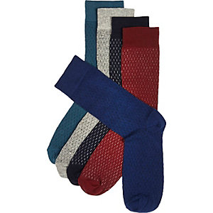 Mixed dash print socks multipack