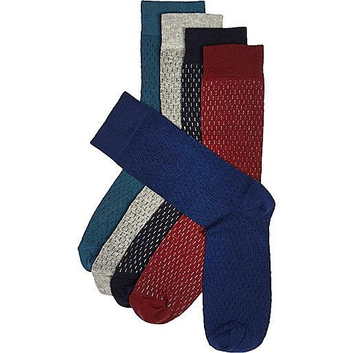 Mixed dash print socks multipack