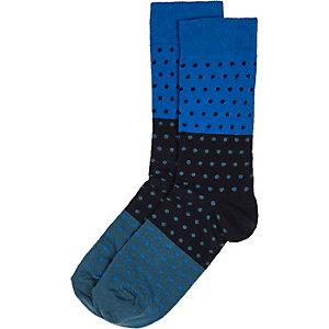 Blue polka dot socks