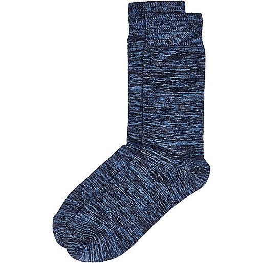 Blue marl socks