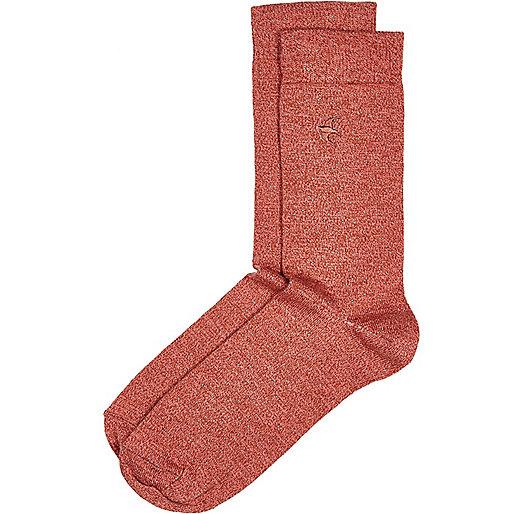 Light red swallow socks