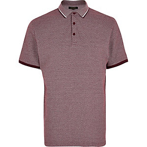 Burgundy diamond polo shirt