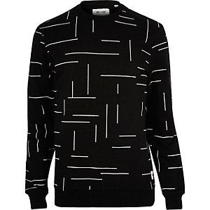 Black Only & Sons line print sweatshirt