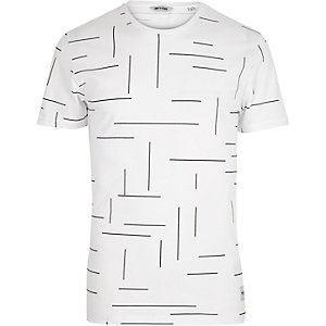 Black Only & Sons line print t-shirt