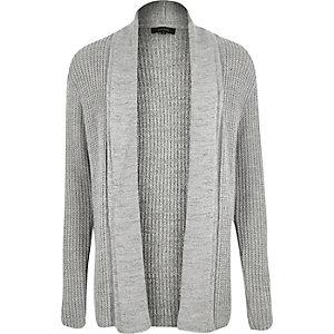 Grey textured cardigan
