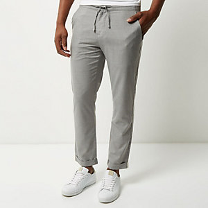 Grey cropped pants