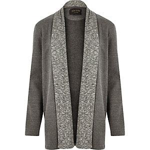 Grey draped cardigan