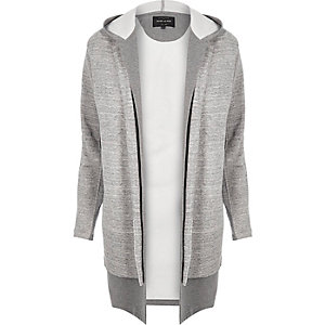 Grey double layer hoodie