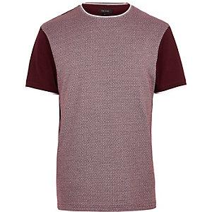 Dark red diamond short sleeve t-shirt