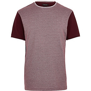 Dark red diamond short sleeve t-shirt