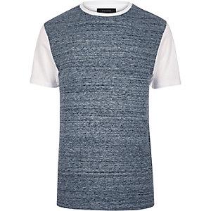 Blue textured t-shirt