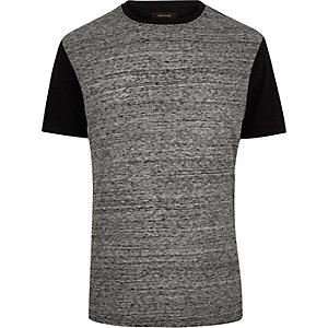 Grey textured t-shirt